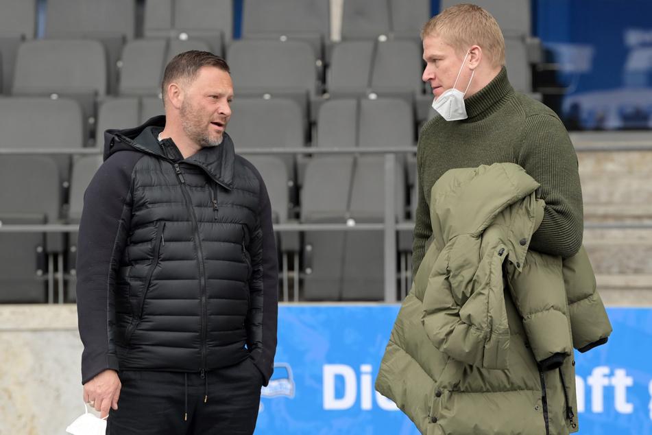Paul Keuter (46, r.), Mitglied der Geschäftsleitung von Hertha BSC, befürwortet gesellschaftliche Aktionen im Fußball