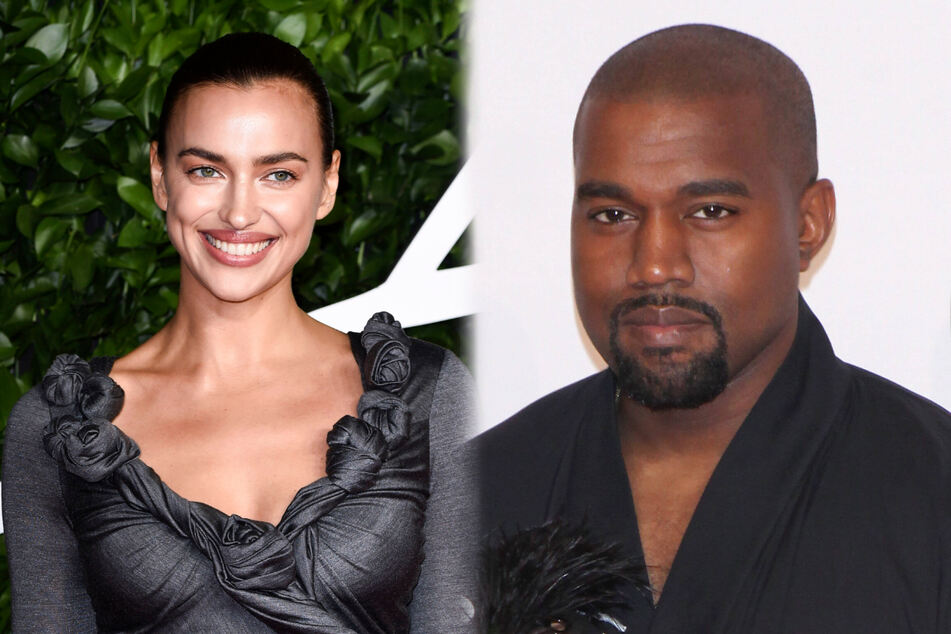 Irina Shayk (l.) and Kanye West were spotted overseas together on his birthday.