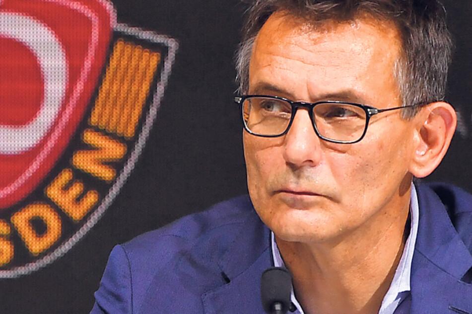 """Dynamos kaufmännischer Geschäftsführer Michael Born nimmt es, wie es ist: """"Es hilft kein Jammern!"""""""
