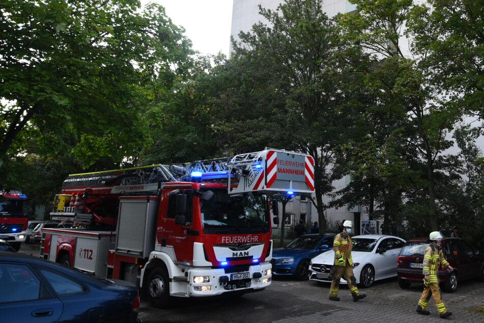 Die Feuerwehr hat den Brand schnell im Griff.