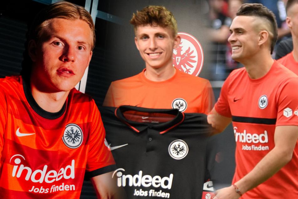Jens-Petter Hauge (21, l.), Jesper Lindström (21, M.) und Rafael Borre (25) sind drei der vielversprechendsten Neuzugänge der Frankfurter Eintracht.