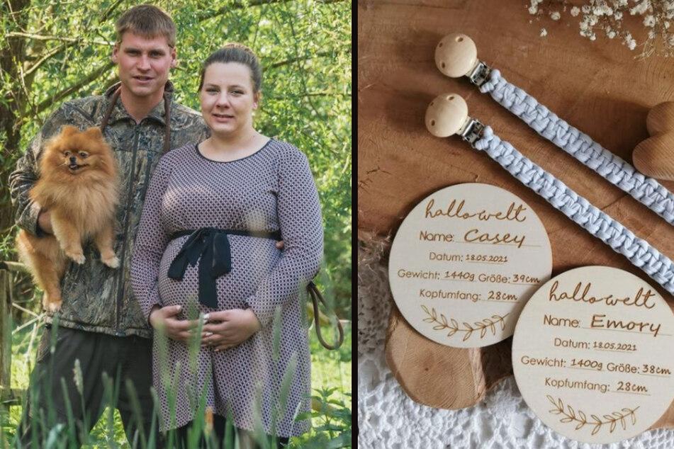 Sarafina (26) und Peter Wollny (28) verraten bei Instagram die Namen ihrer Babys. (Fotomontage)
