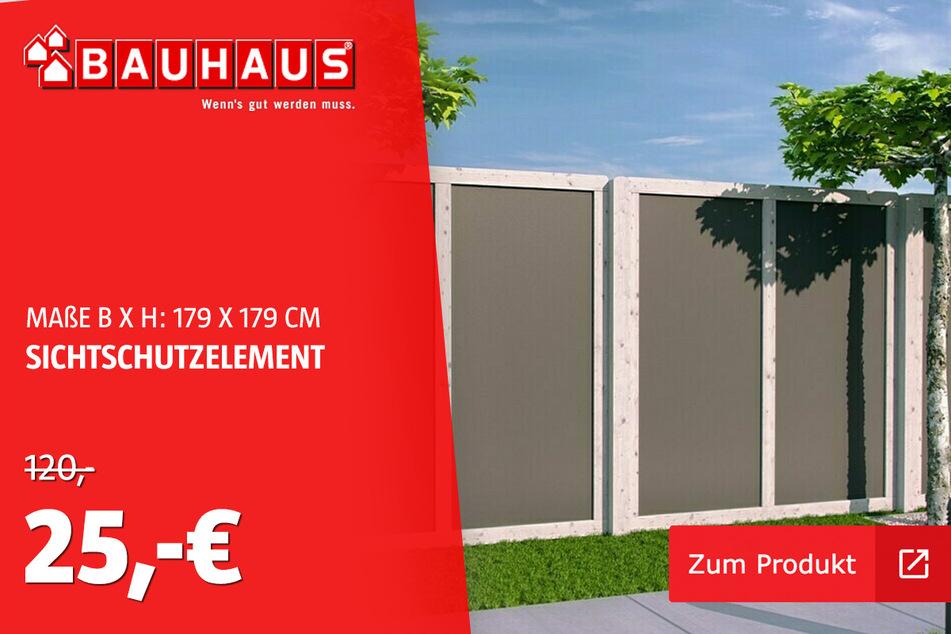 HPL Zaun Fichte grau für 25 statt 120 Euro