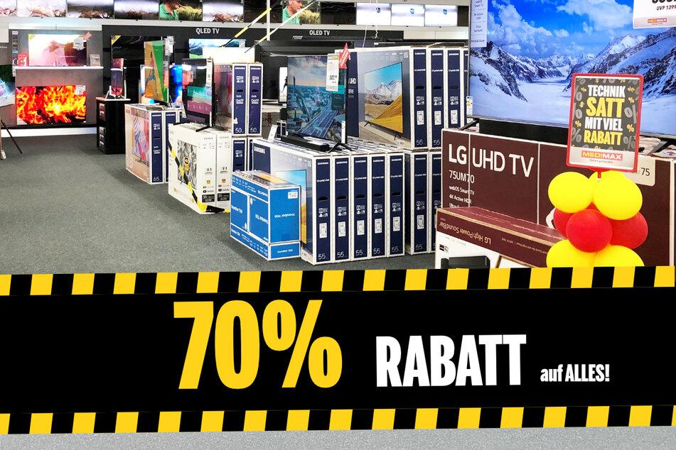Ab sofort bekommt Ihr alle vorrätigen Produkte 70 % günstiger!