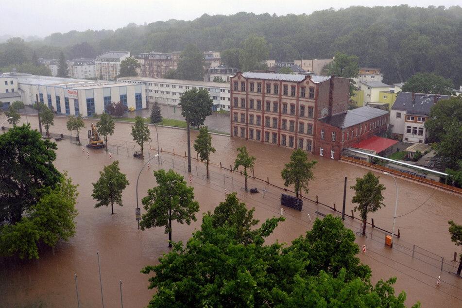 Das Hochwasser 2013 überflutete nicht nur die Annaberger Straße samt Umgebung.