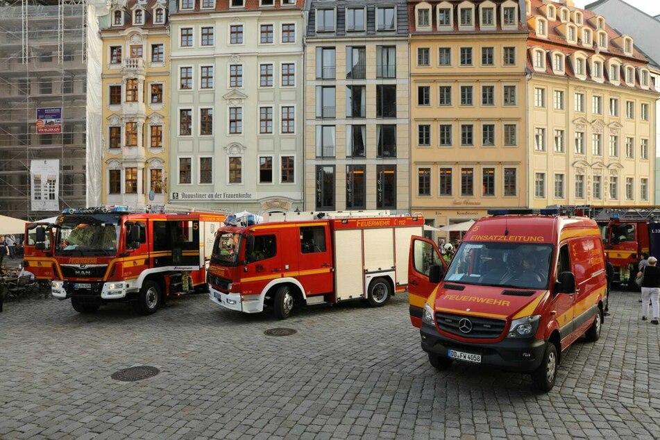 Feuerwehr-Einsatz auf dem Neumarkt: Was brennt hier?