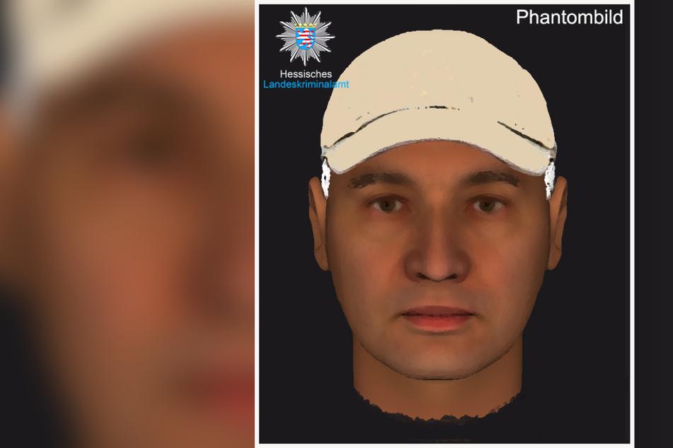 Das Phantombild des Mannes, der am 1. Mai 2019 in Bensheim eine damals 24-jährige Frau vergewaltigt haben soll.