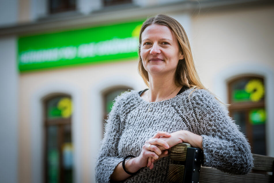 """""""Notfalls wählen wir Volkmar Zschocke eben noch mal"""", sagt Landessprecherin Christin Furtenbacher (35, Grüne). Foto:"""