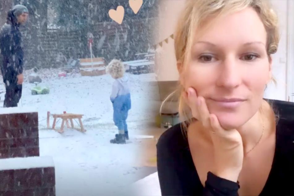 Emil-Ocean ohne Jacke im Schnee: Janni Hönscheid wehrt sich gegen Shitstorm!