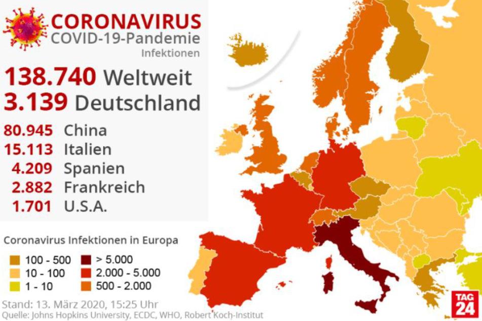 Die Zahl der Infektionen mit dem Coronavirus ist erneut gestiegen.