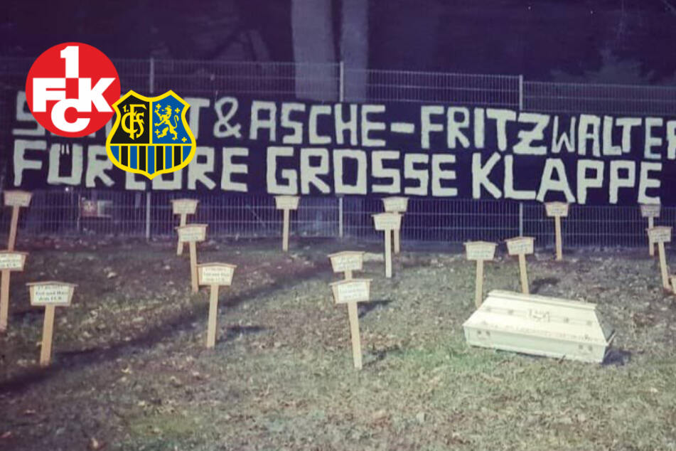 Brisantes Drittliga-Derby: Saarbrücken-Fans stellen Sarg und Kreuze in Kaiserslautern auf
