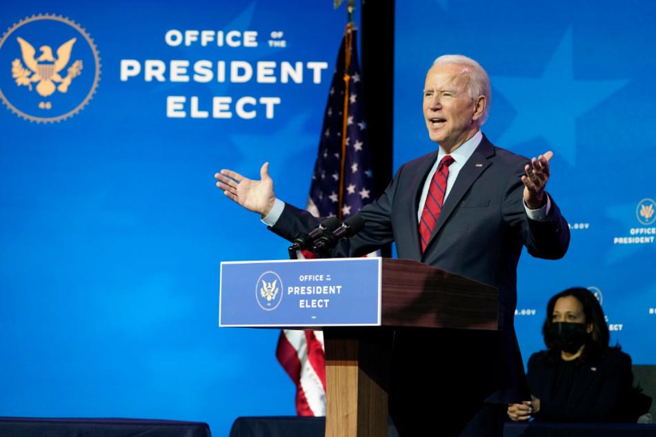 Joe Biden, gewählter Präsident der USA, spricht bei einer Veranstaltung im Queen Theater in Wilmington.