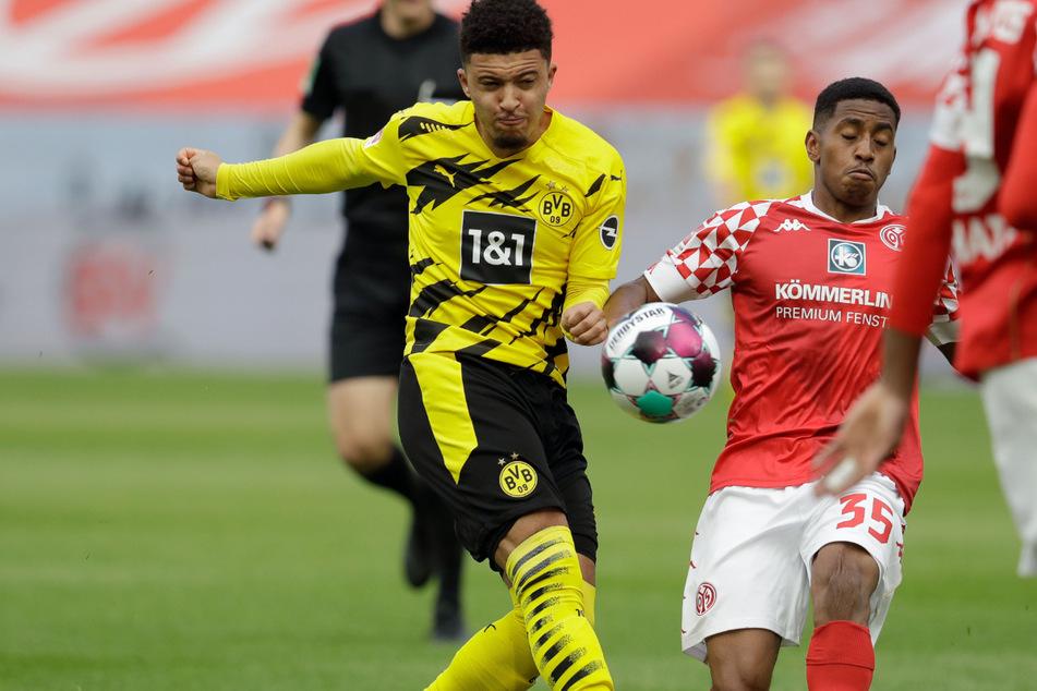 Der Transfer von Jadon Sancho (21, links) soll nach den Vorstellungen von Dortmund erst bei 90 Millionen Euro plus Bonuszahlungen zustande kommen.