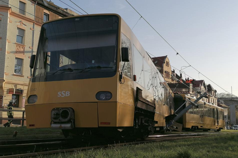 Stadtbahn in Stuttgart entgleist!