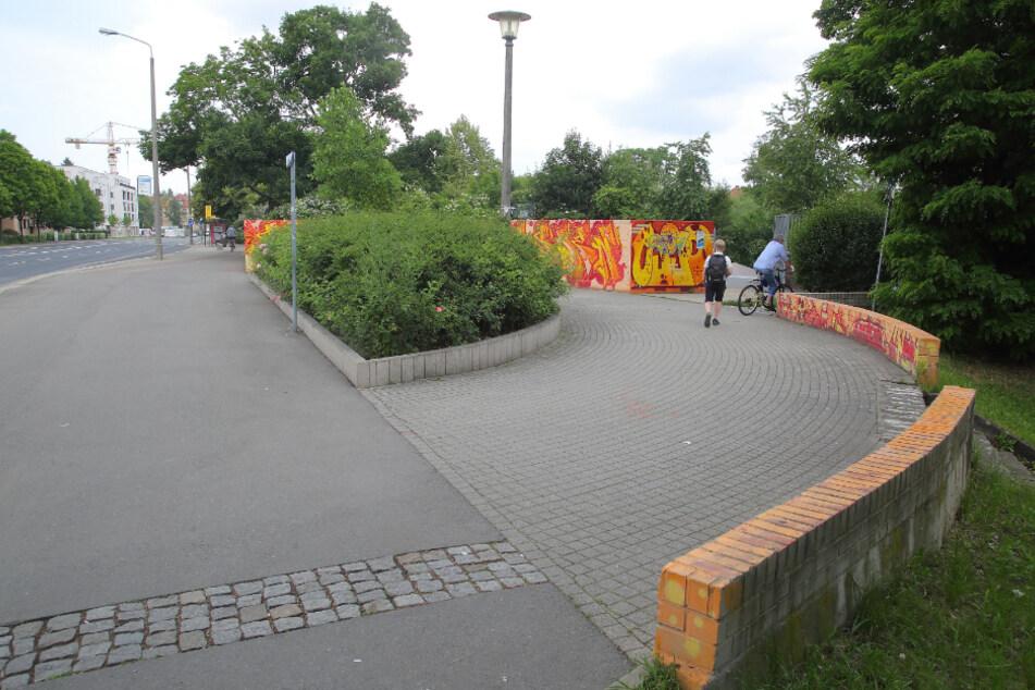 Der Hugo-Bürkner-Park an der Teplitzer Straße.
