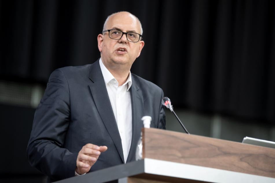 Andreas Bovenschulte (55, SPD) gibt eine Regierungserklärung ab.