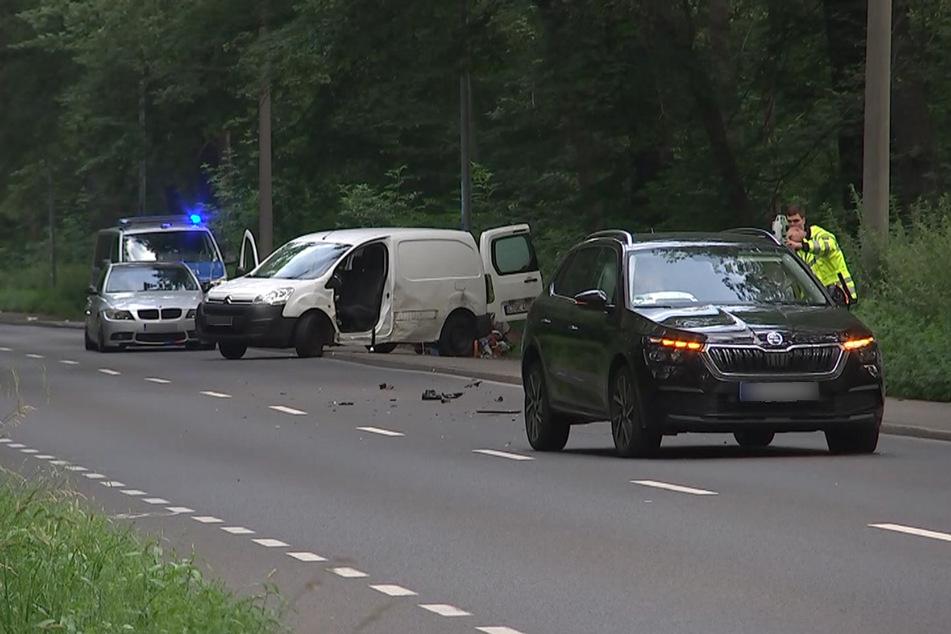 Der Unfallverursacher im Skoda erlitt leichte Verletzungen.