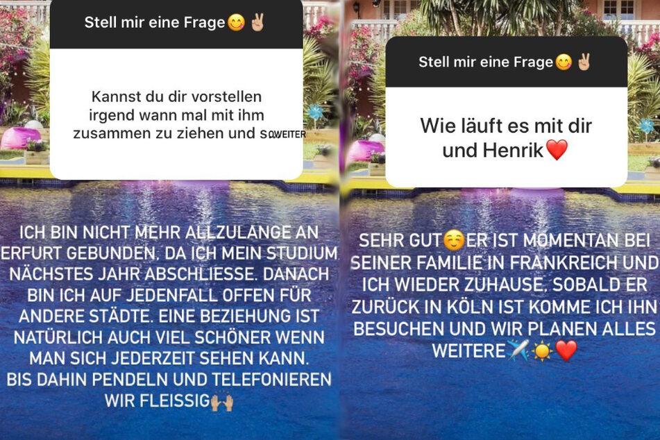 Die Erfurterin beantwortete die Fragen nach ihr und Henrik.