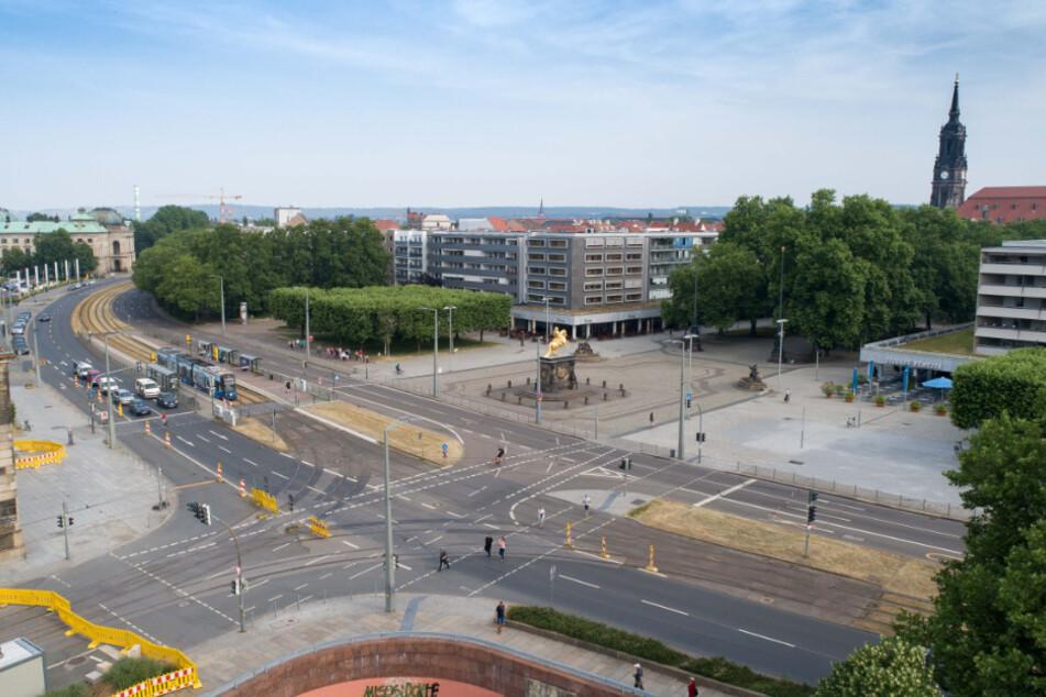 Dresden: Beschlossen! Der Goldene Reiter wird nicht zugebaut
