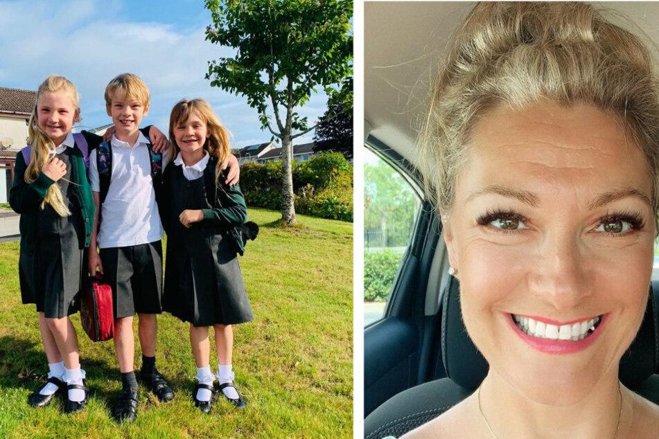 Mittlerweile sind ihre drei Kinder schon ganz schön groß geworden (links)! Joan ist überglücklich mit ihrer Familie (rechts).