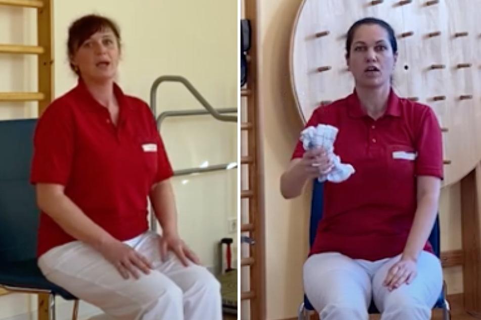Mit Fitness-Videos von Leipziger Klinik wird das Geschirrtuch zum Sportgerät