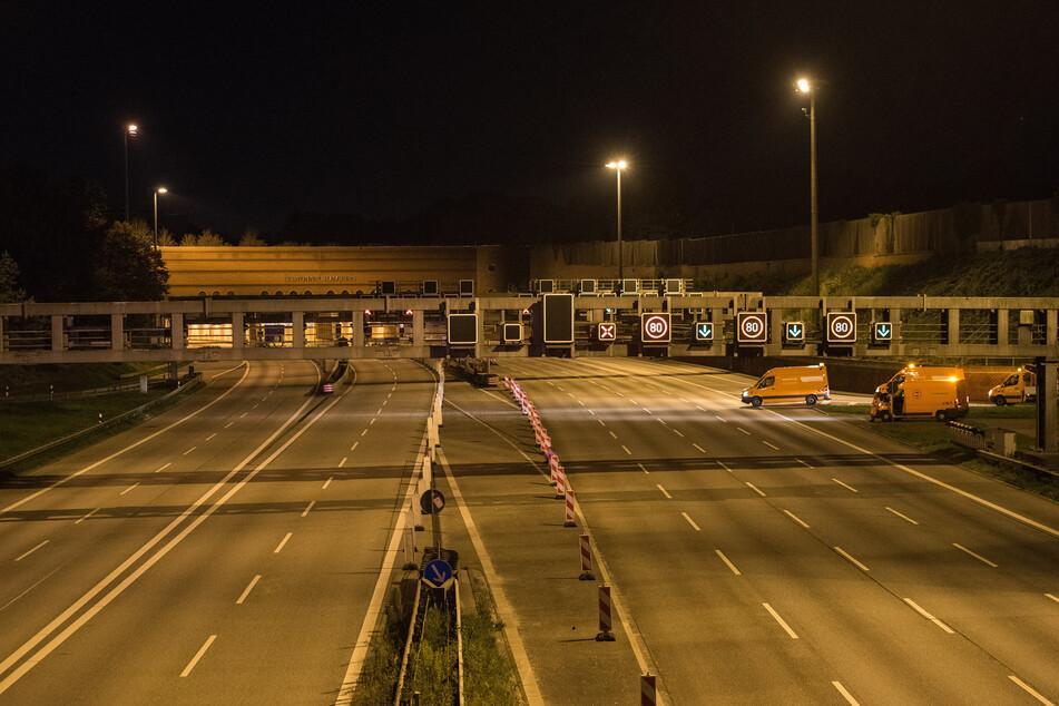 Elbtunnel gesperrt! Autobahn für 55 Stunden dicht