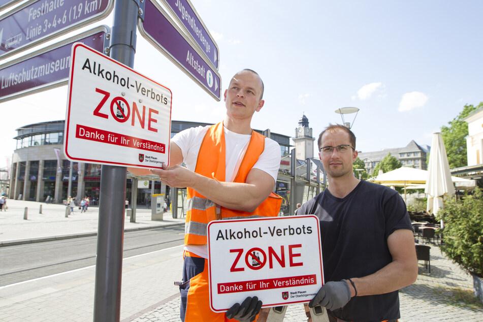 Im Jahr 2018 war Plauen stolz auf seine Alkoholverbotszone. Jetzt hat die Landesdirektion das Verbot gekippt.