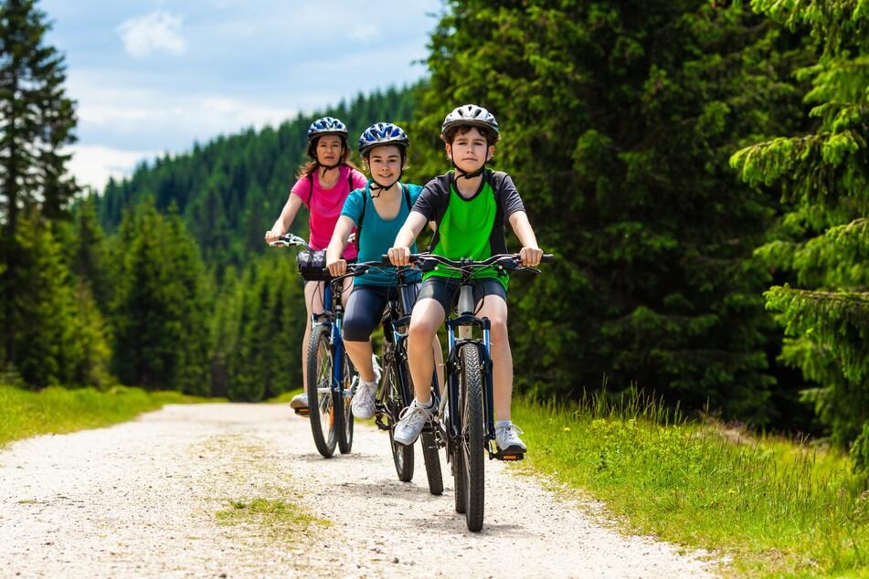 Eine Radtour mit der ganzen Familie macht Spaß.