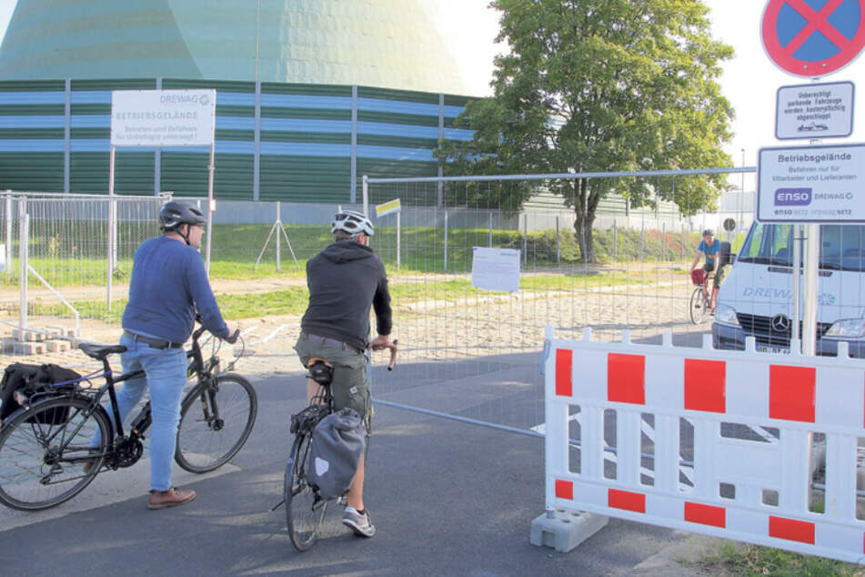 Ratlose Radler standen plötzlich vor verschlossenen Toren.