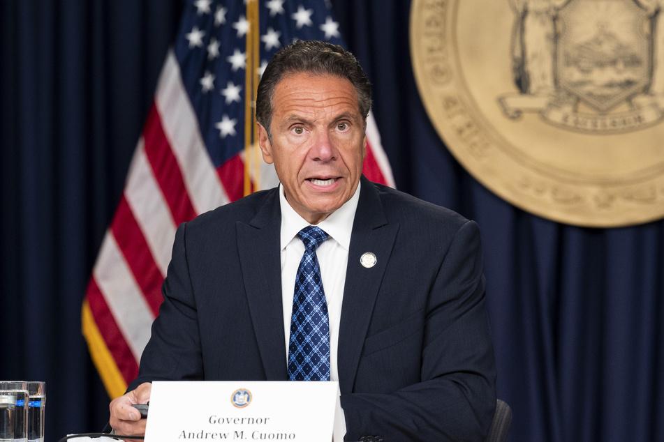 New York: Andrew Cuomo, Gouverneur des Bundesstaates New York, spricht auf einer Pressekonferenz.