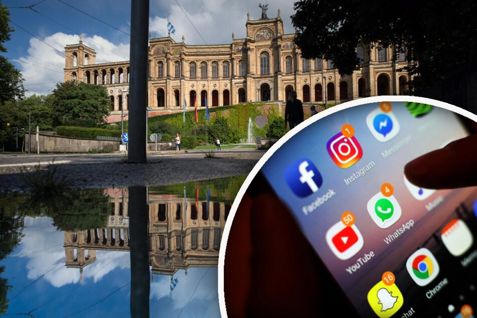 Hacker haben sich den Instagram-Account des bayerischen Landtags vorgenommen. (Symbolbild)