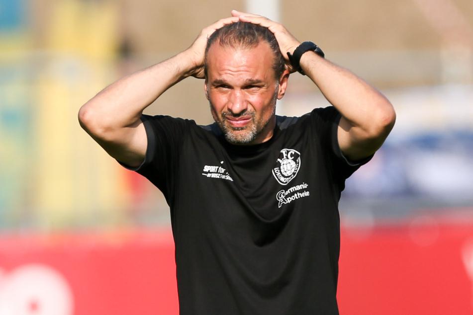Loks Trainer Almedin Civa kassierte mit Lok eine bittere Pleite. (Archivbild)