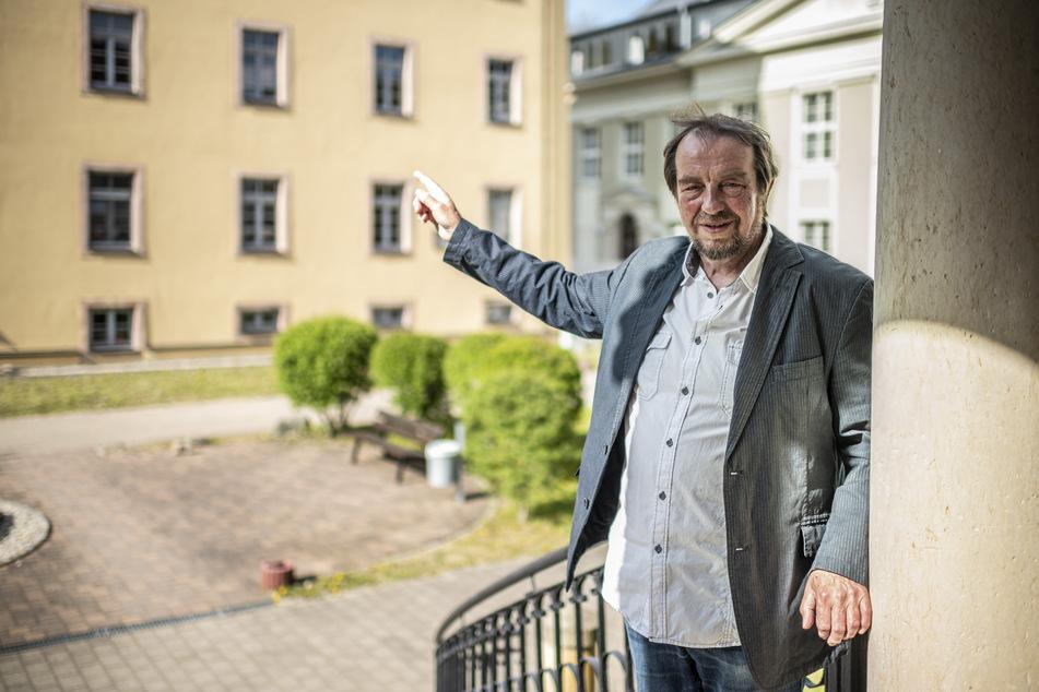 Zum Abschied besuchte Thomas Morgenstern (66) noch einmal die Bernhardsche Spinnerei, deren Abriss er einst ablehnte.