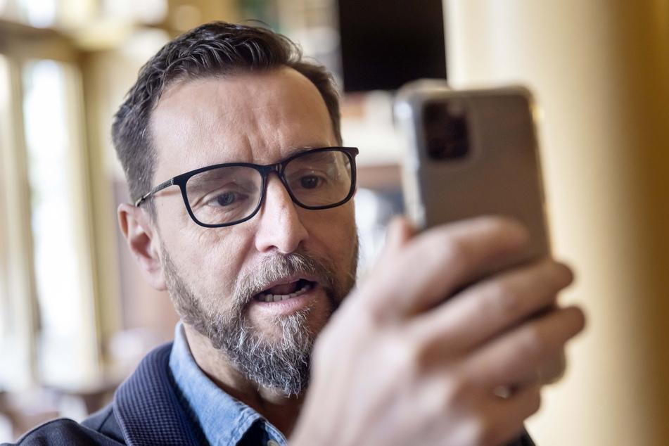 André Donath (Turmbrauhaus) im virtuellen Gespräch mit dem Bundestagsabgeordneten.