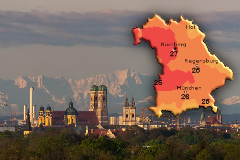 Über München und Bayern wird am Wochenende sommerliches Wetter erwartet.
