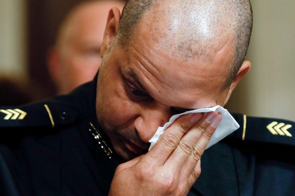 U.S. Capitol Police Sgt. Aquilino Gonell während einer Anhörung des Sonderausschusses des Repräsentantenhauses am 27. Juli zum Anschlag auf dem Capitol Hill in Washington.