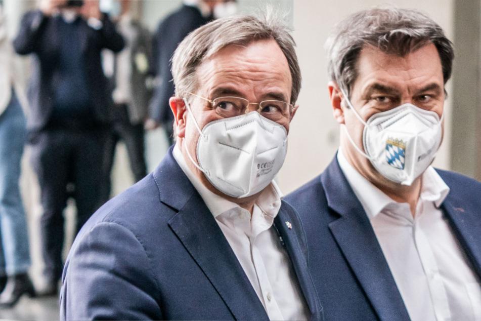 Kanzler-Machtkampf zwischen Söder und Laschet zieht sich weiter: Das ist der Stand