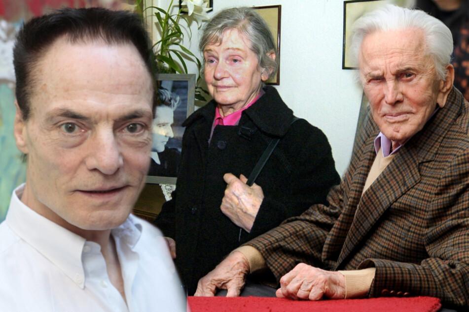 Dieter Laser (l.), Elisabeth Hartnagel und Kirk Douglas.
