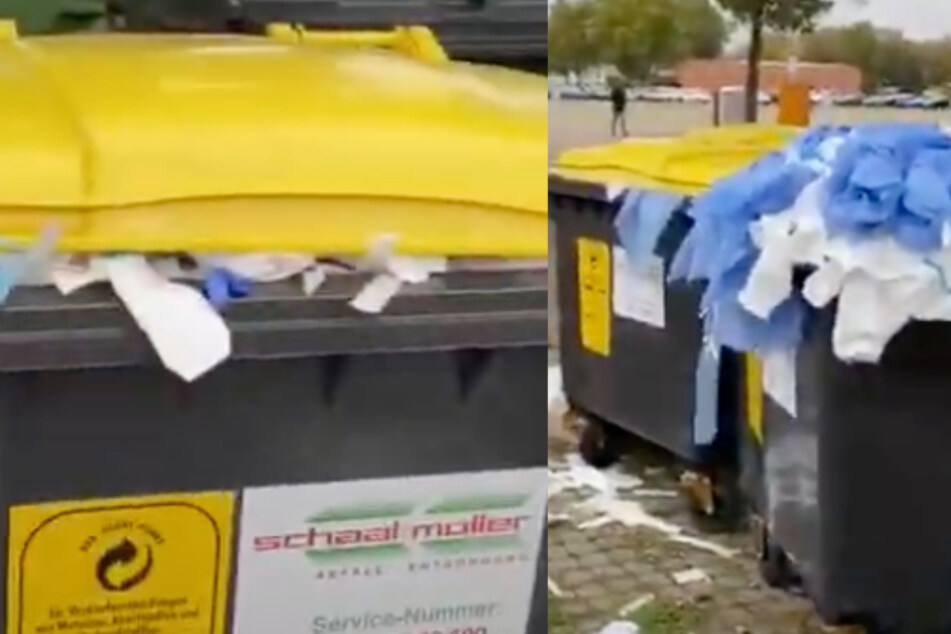 Video von Corona-Testzentrum zeigt Mülltonnen und gebrauchte Schutzkleidung