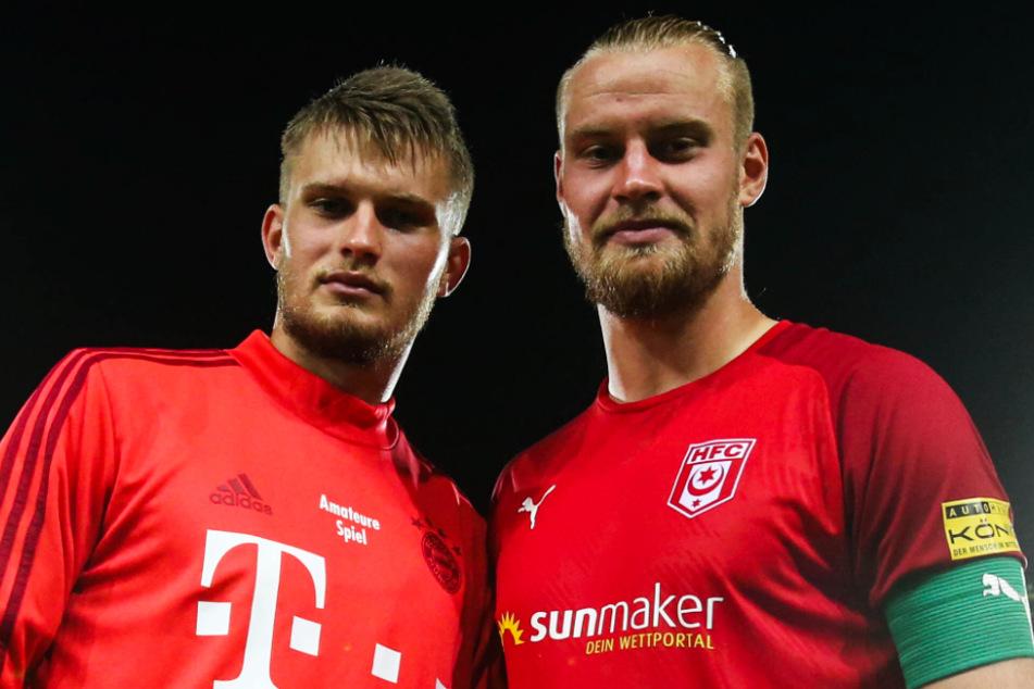 Die Gebrüder Mai: Sebastian (r.) mit seinem sechs Jahre jüngeren Bruder Lars Lukas, der bis 2023 bei den Bayern unter Vertrag steht, derzeit aber an Darmstadt ausgeliehen ist.