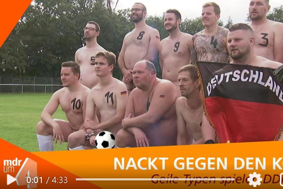 """DDR gegen BRD - und das nackt! Auch der MDR war mi """"Hier ab 4"""" hautnah dabei."""