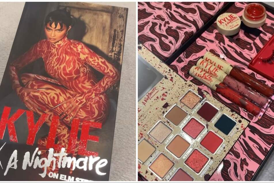 Kylie Jenner paid tribute to the classic 80s horrific flick with her latest make-up line, Kylie Cosmetics x A Nightmare on Elm Street.