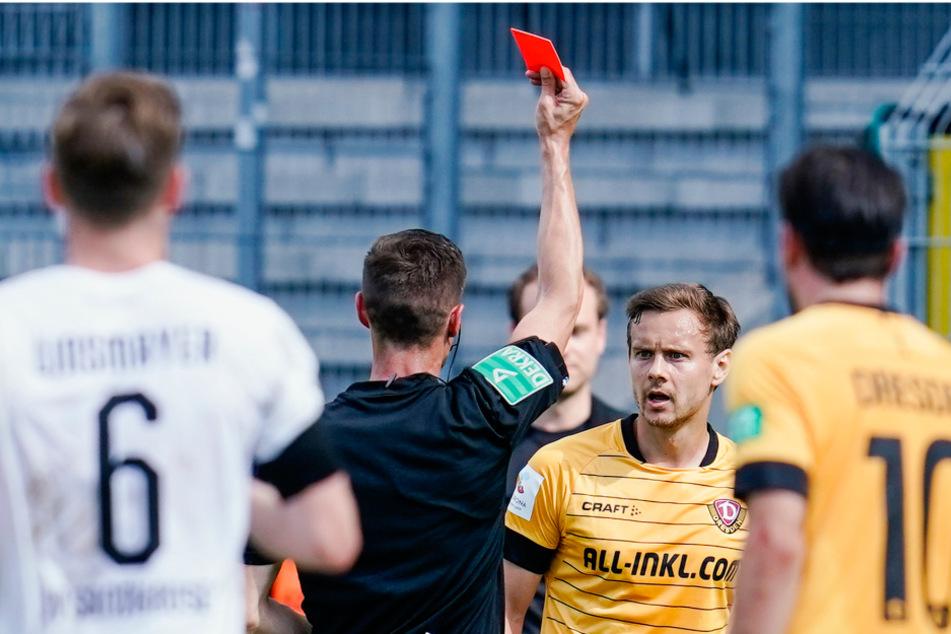 In Sandhausen sah Chris Löwe die Rote Karte, bekam zwei Spiele Sperre. Das heißt: Er muss zum Punktspielstart am 18. September noch zuschauen.
