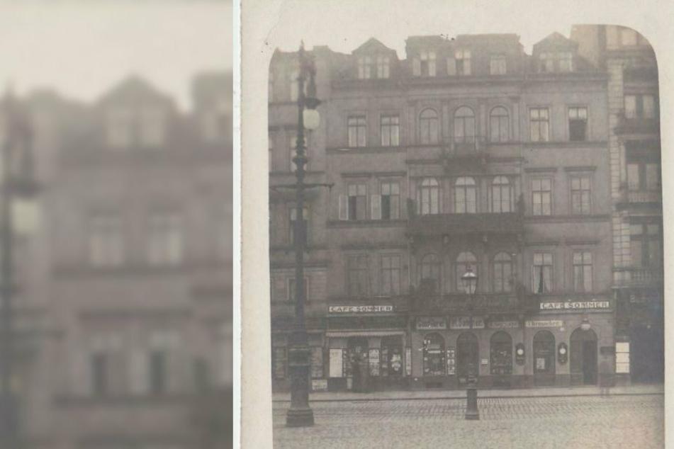 So sah das Café Sommer, in dessen Keller die Flaschen gefunden wurden, im Jahr 1906 aus.