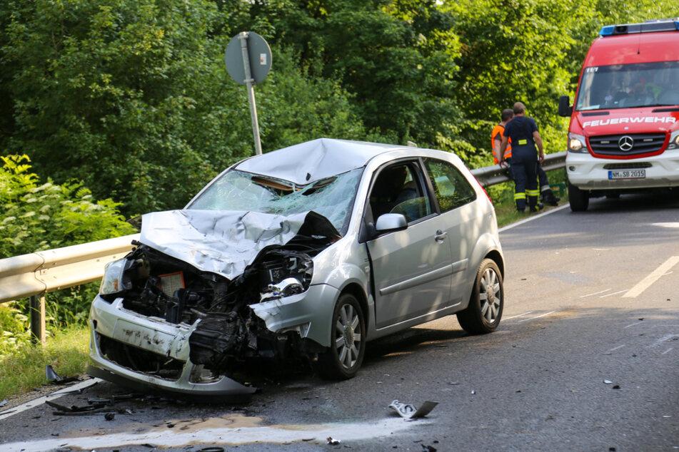 Der Ford-Fahrer erfasste das Motorrad frontal.