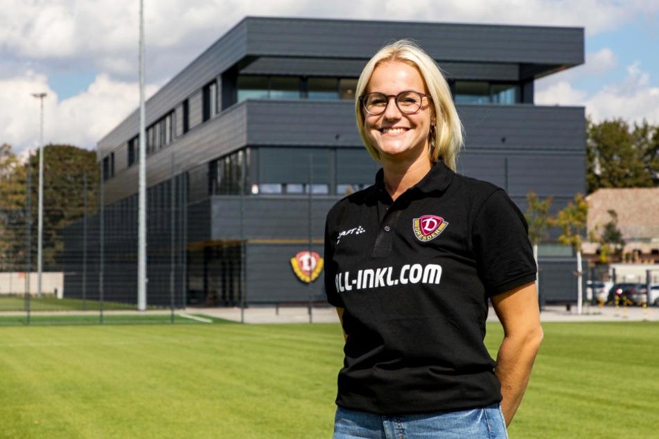 Marie Jenhardt (30) ist die neue Teammanagerin bei Dynamo und damit erst die zweite im deutschen Profifußball.