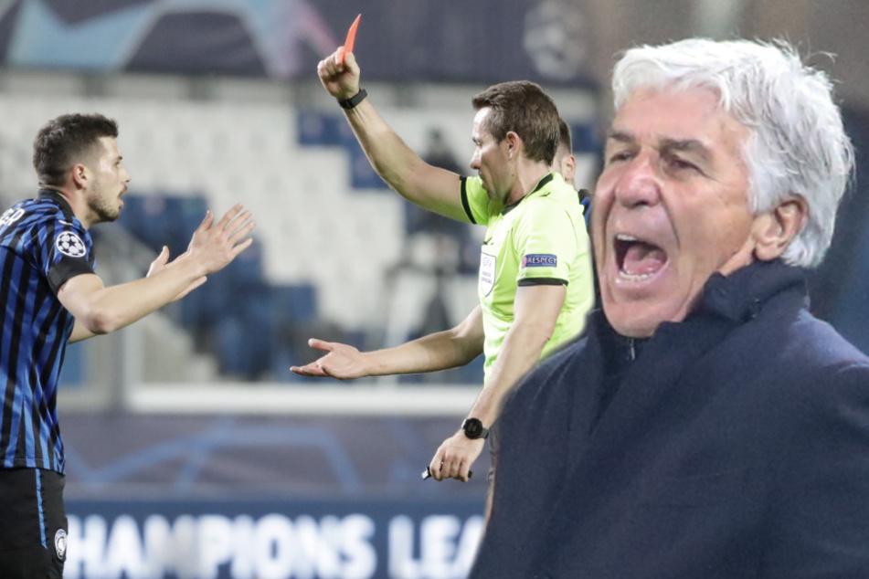 """Schon wieder Stieler: Bergamo-Trainer stinksauer auf deutschen Schiri! """"Selbstmord am Fußball"""""""