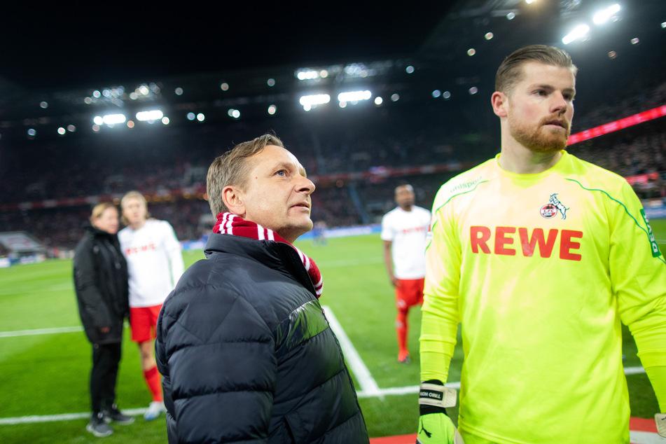 Sportdirektor Horst Heldt (50) hat Keeper Timo Horn (27) den Rücken gestärkt (Archivbild).