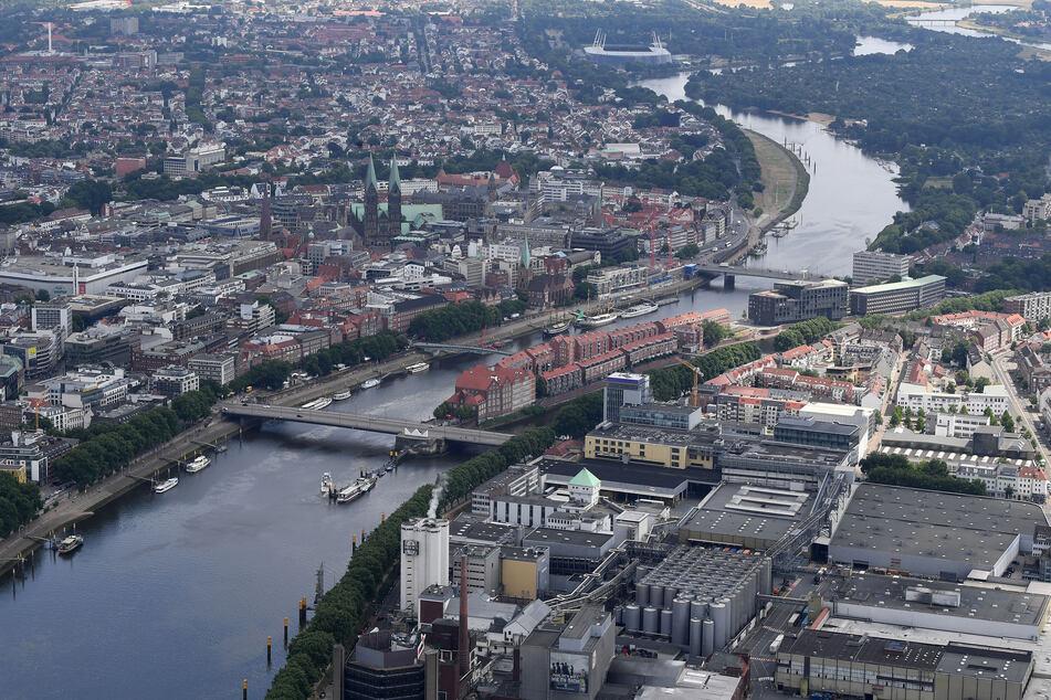 Die Bremer Innenstadt aus der Vogelperspektive. (Archivfoto)