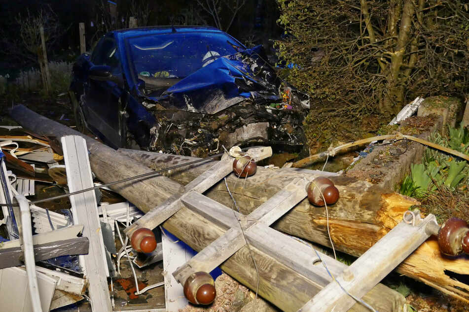 Stromausfall: Promille-Fahrer verwüstet mit seinem Auto mehrere Gärten!